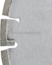 Diamond cured concrete saw blade