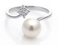 Fashion Ring with Pearl decorated