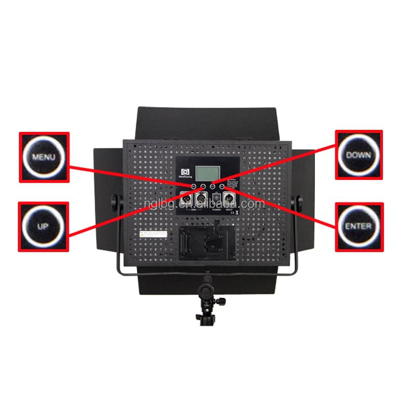 Nanguang 72W CN-1200DS DMX studio LED Light with professional LCD Screen for studio Ra 95
