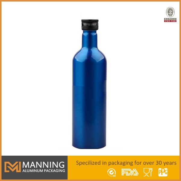 Empty aluminum 187ml wine bottles