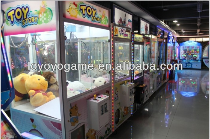 arcade claw crane coin operated catching toys customed game machine for sale