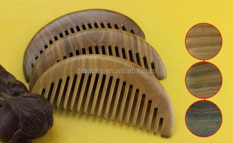 Promotion Solid Wood Wide Tooth Beard Comb