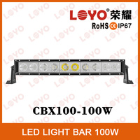 21.5 inch 100W 4x4 Led Car Light, Curved single row Led Light bar Off road with CE, RoHs, IP67, auto led light arch bent