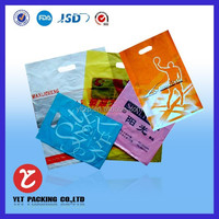 Costom cheap nice printing packing cloth plastic zipper bag for clothing