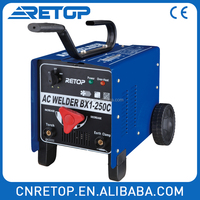 BX1 250C single/three phase portable arc welder AC welding machine price motor brush holder