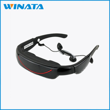 72inch fpv virtual reality video glasses with AV in and built-in 4GB card for DVD +VGA