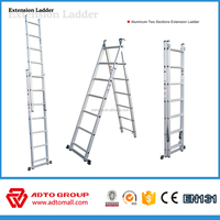 extension ladder,extension ladder with 2 sections, aluminum extension ladder