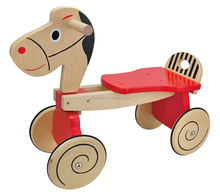 4 wheels educational toys european main marketing children outdoor toys wooden horse child bicycle