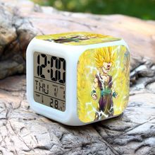 (Low Price) 2016 Hot SON GOKU LED Alarm Clock, Dragon Ball Digital Alarm Clock, Dragon Ball 7 color LED Clock