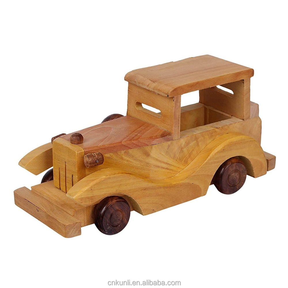 Wholesale vintage wooden toy cars are smart kids toy and happy kid toy