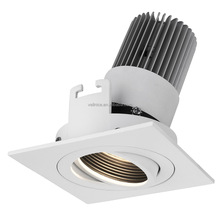 Square 9W tiltable /Focus Sharp COB LED recessed down light/led ceiling downlight /R3B0157