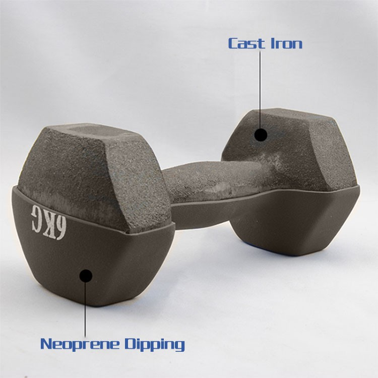 8LB textured neoprene Neoprene Hand Weights