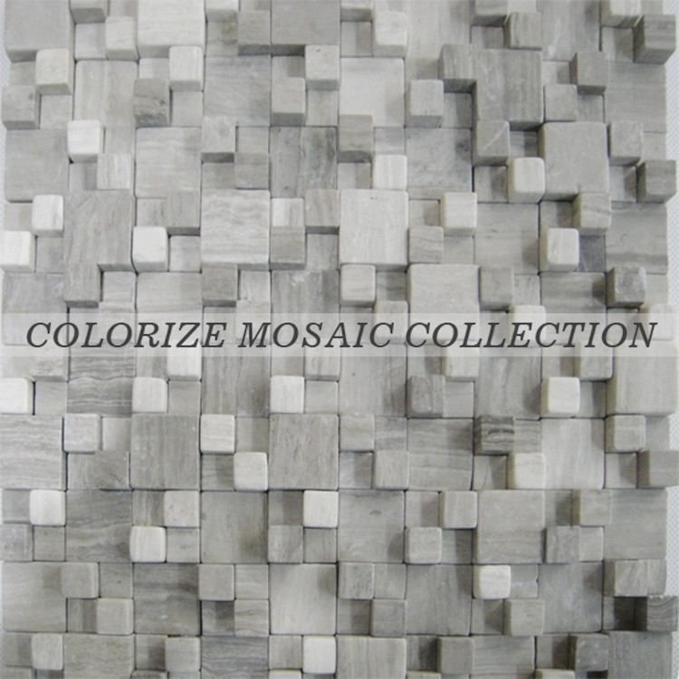 3D stone mosaic tile for wall decoration (CL-ST040)