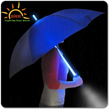 Romantic OEM & ODM proved flashing LED promotion gifts birthday presents umbrella with led light glow in dark