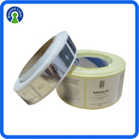 Manufacturer Plastic Roll Vinyl Label Sticker, Customized Permanent Waterproof Printing Label For Food Product Label