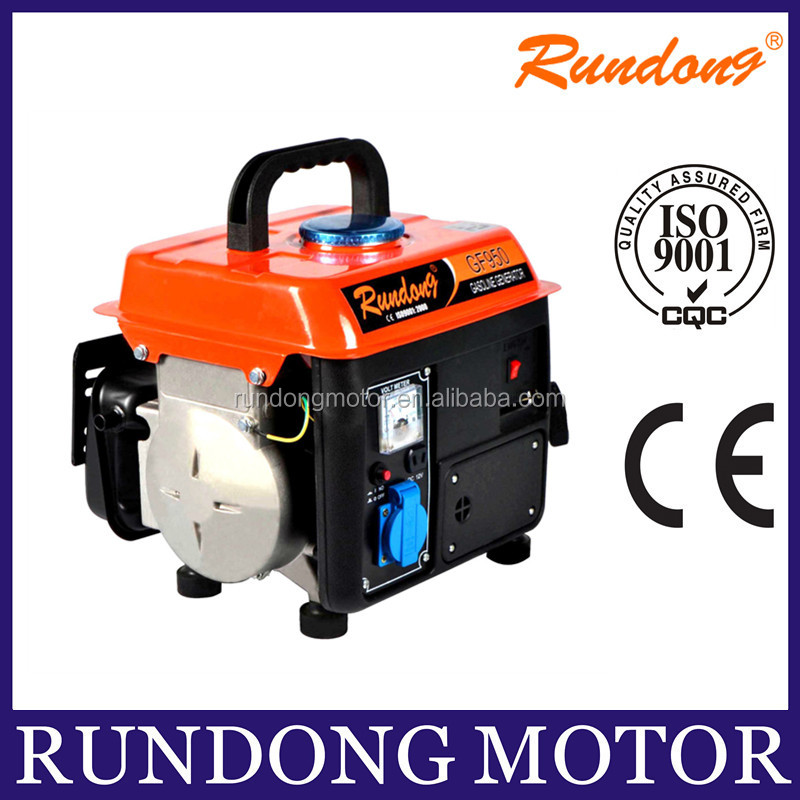 Electric portable gasoline generator 650w powered by famous brand engine