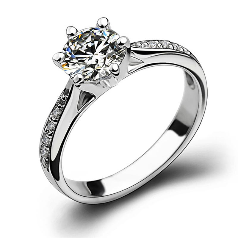 YWMT 2018 Wholesale S925 Silver Women Zircon Diamond Wedding <strong>Ring</strong>