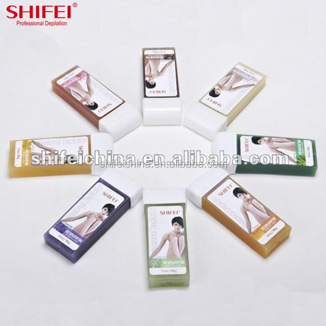 SHIFEI Sensitive Skin 100ml wax heater usage depilatory roll on hot wax cartridge pearl hair removal hot wax