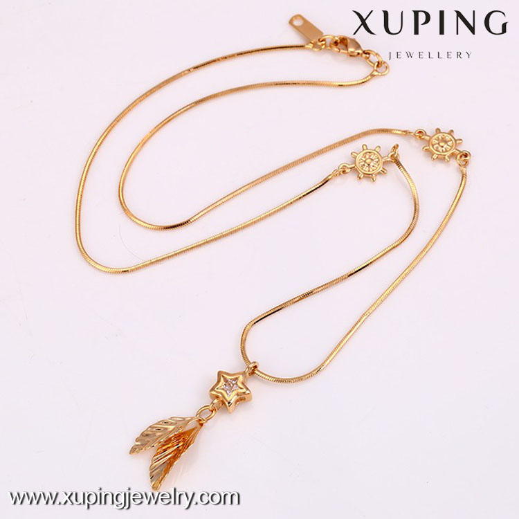 2016 Wholesale Jewelry Low Price 18k Gold Color Long Women Necklace