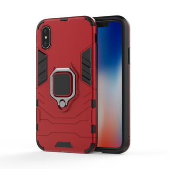 Hot Product Black panther case magnetic rind holder kickstand shockproof mobile phone protection case for iphone x cover
