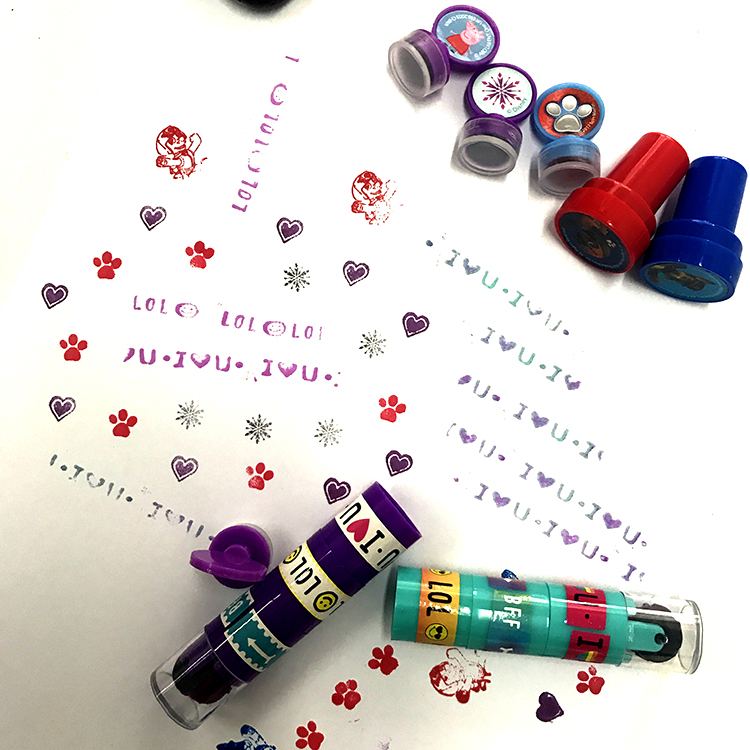 Wholesale High Quality Novelty Digital Rolling Custom Rubber Stamp For Kids