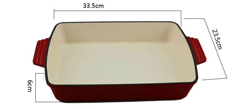 Hot sale roasting dish pan cast iron kitchen cooking casserole dish
