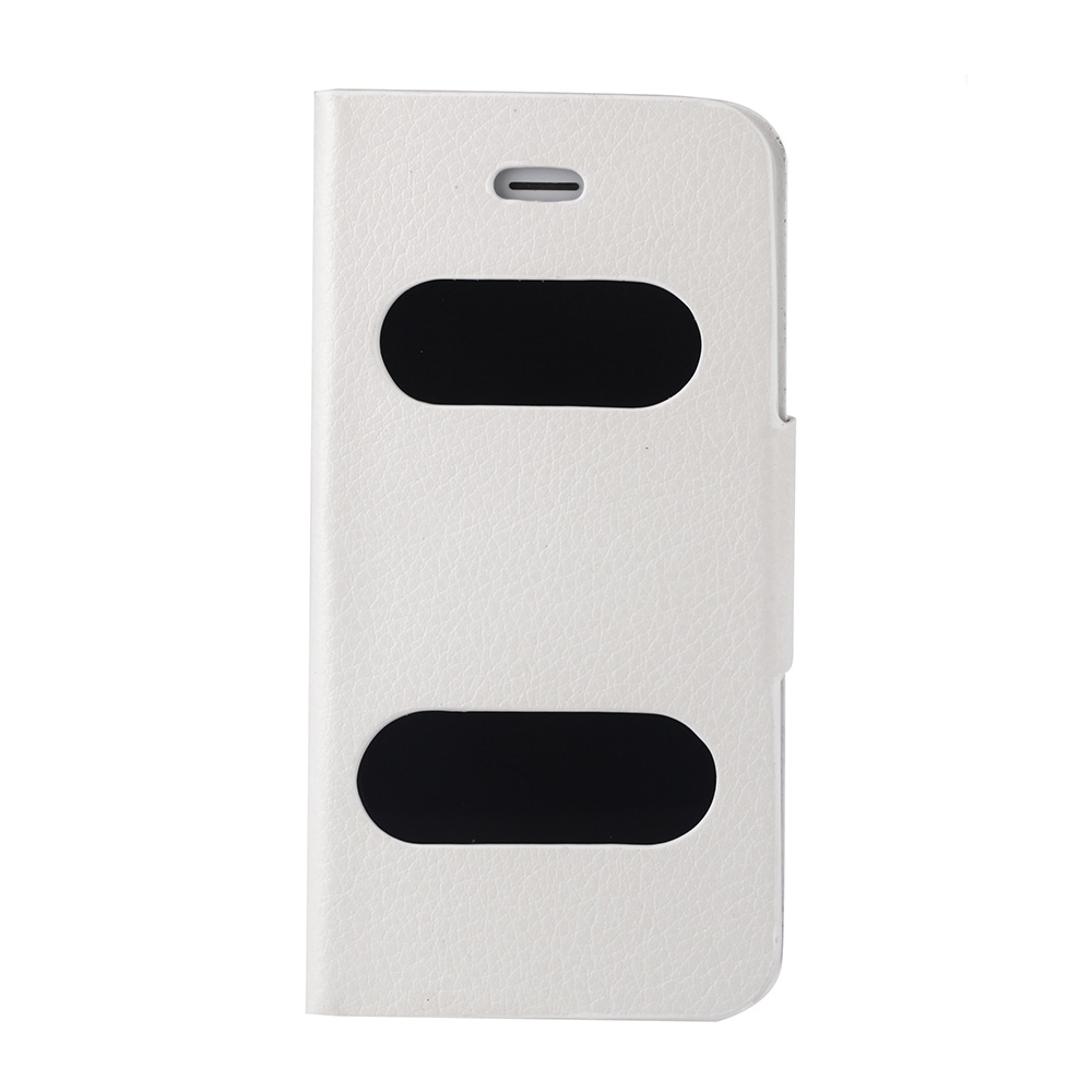 Big Sales Double View Screen Window Flip Case Cover PU Leather for iPhone 5S 5G 5C Stand Magnetic Clip Multi-color