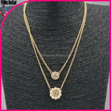 Europe and the United States the new multilayer flower pendant necklace