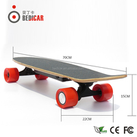 4 PU Wheels electric skate board with 10KM range