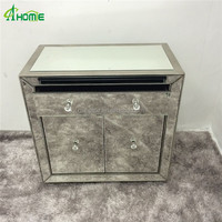 fashion hobby lobby 2 door living room mirrored furniture sidetable