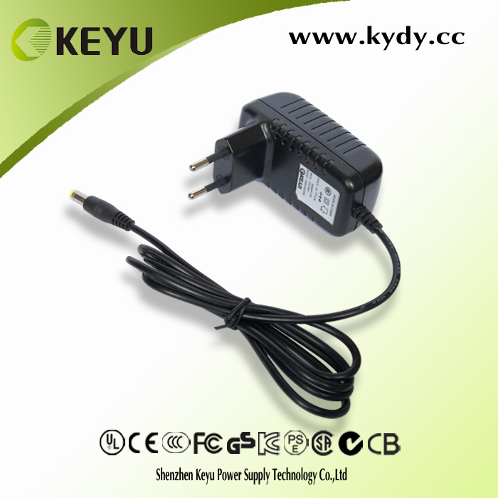 12v 1.5a domestic set surveillance webcam power supply from china factory with CE GS KC PSE CCC CB certification