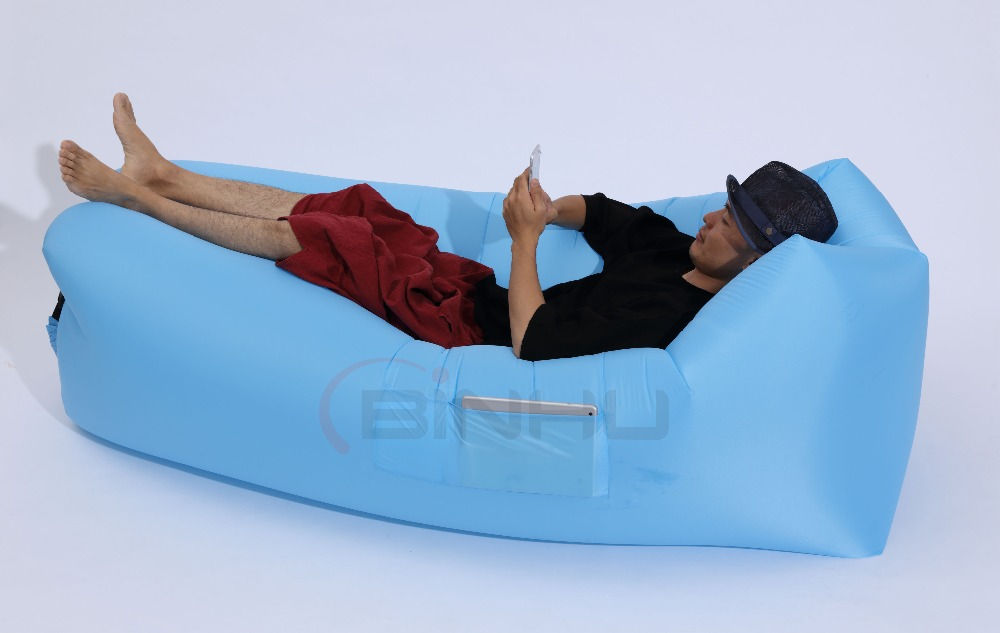 New Design One Layer One Air Inlet Square Air Sofa Bed V2 Version for Casual Hangout Use Inflatable Air Lounger with OEM Service