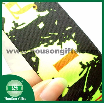 HSET801 Custom neon yellow elastic rubber band