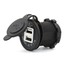 Waterproof USB Charger Adapter Socket 12-24V Outlet Power Jack Marine Motorcycles With LED Indicator
