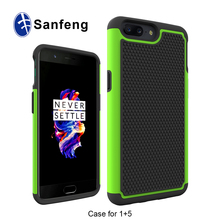 2 in 1 Plastic Mobile Phone Case for One Plus 5 Full Protective Football Case