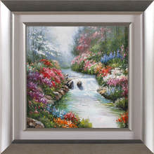 Yes orignal 100% handmade hot sale large scenery canvas paintings