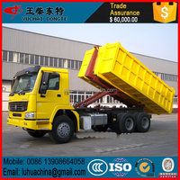 Hot sale RHD Dongfeng hook arm type garbage truck