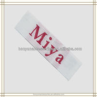 High Density Custom Woven Silk Labels Laser Cut Woven Tapes