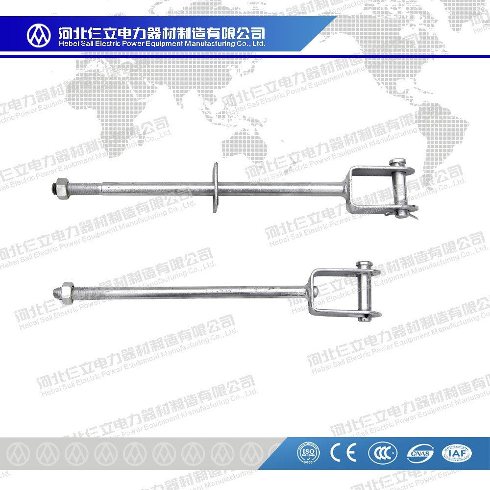 Hot Dip Galvanized D Iron/Bracket With Bolt, Nut And Washer High Voltage For Overhead Power Line