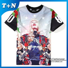 high quality bulk blank comfort colors sublimation custom made t-shirts