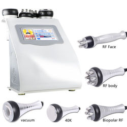 Portable 5 in 1 tripolar radio frequency Cavitation rf beauty machine