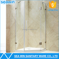 Luxury free standing shower enclosure Frameless glass bath shower cabin with bathroom shower tray