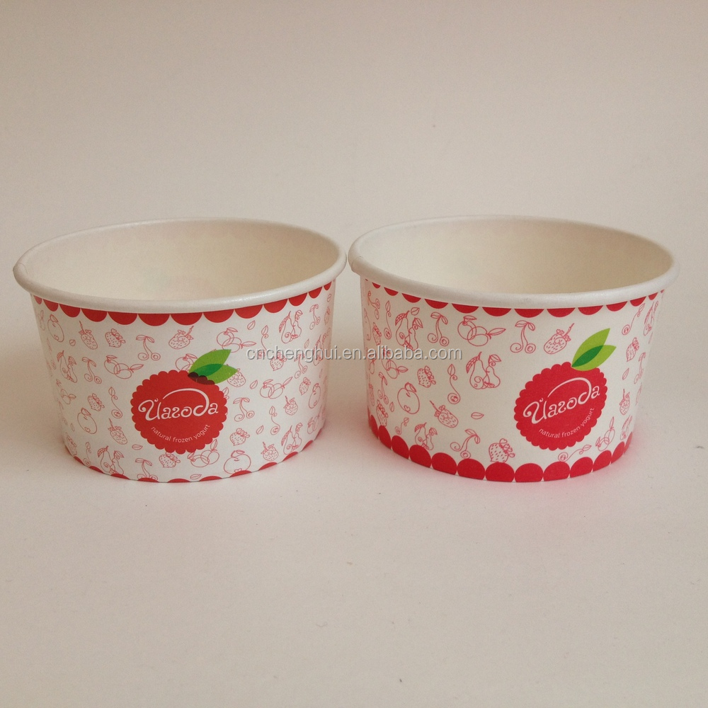 4oz Custom printed disposable paper ice cream cup