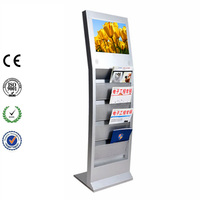 "17"" Stand Signage LCD Touch Screen Advertising Player Kiosk"