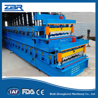 ZBR ZR35.01-1071 Glazed Steel Roof and Wall Sheet Roll Forming Machine,Glazed Floor Making Machine