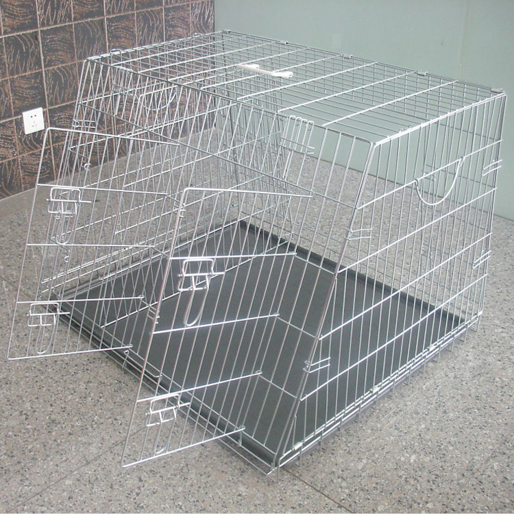 galvanized folding wire mesh slanted dog cages for car