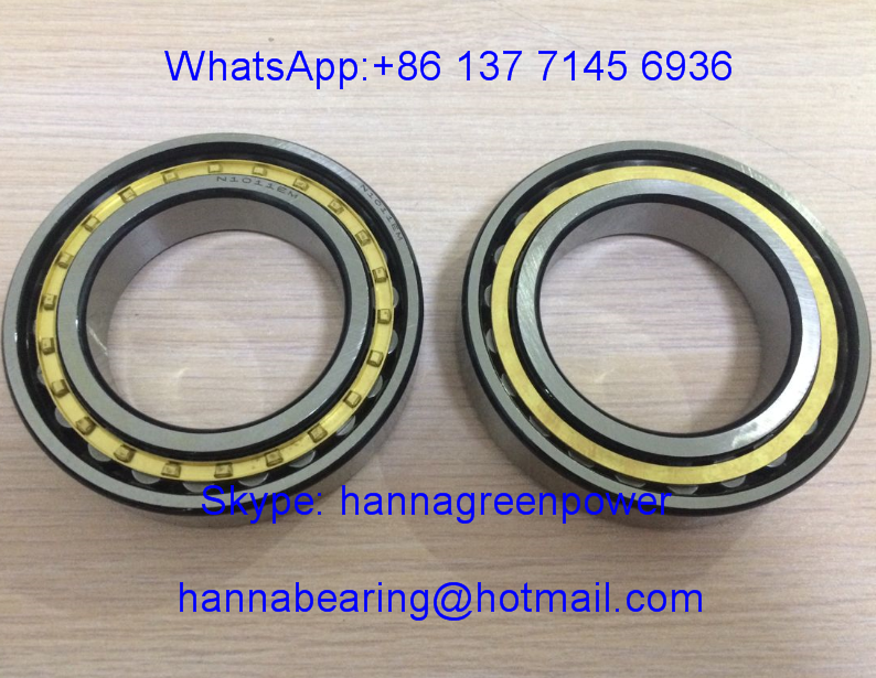 N1011M Cylindrical Roller Bearing ; N1011 M / N 1011 M Brass Cage Roller Bearing 55x90x18mm