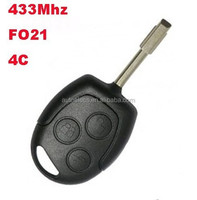 3 button car remote key for Ford Mondeo Fiesta Focus Mondeo key 433Mhz remote Ford key fobs 4C chip