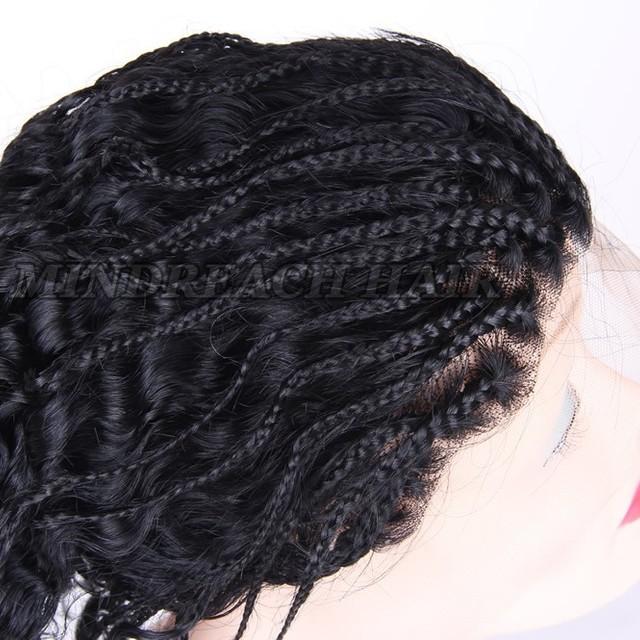 New hot selling Brazilian human hair braided lace front wig box braid dreadlocks wig for black women