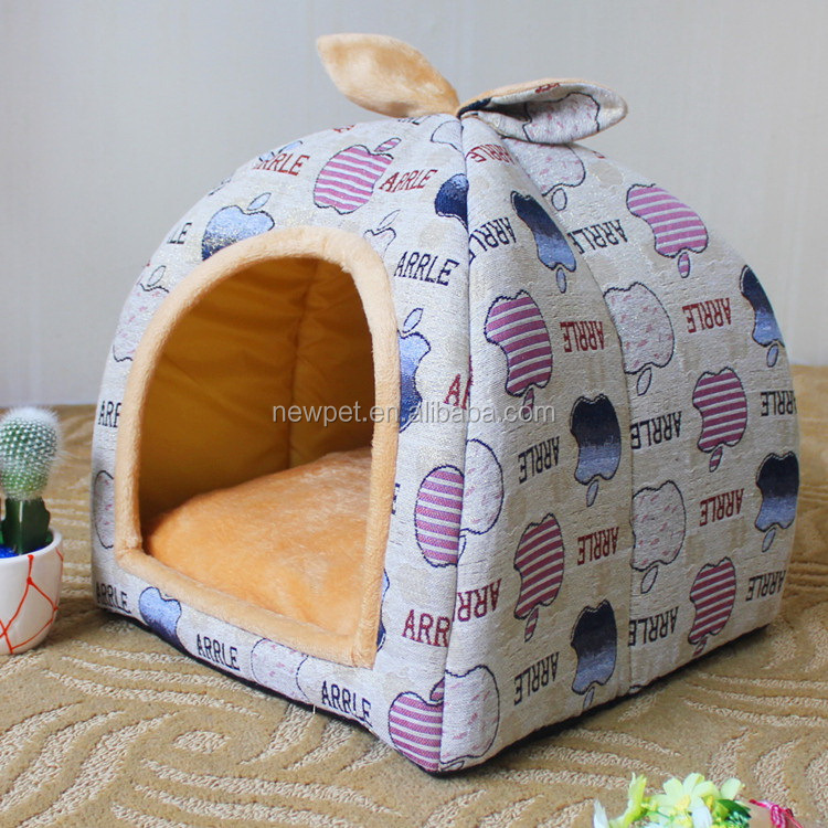 Custom wholesale direct sale s,m,l size dog bed cover long plush cat bed